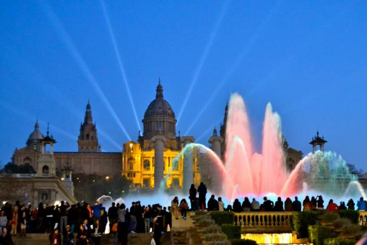 Magic Fountain in Montjuic.