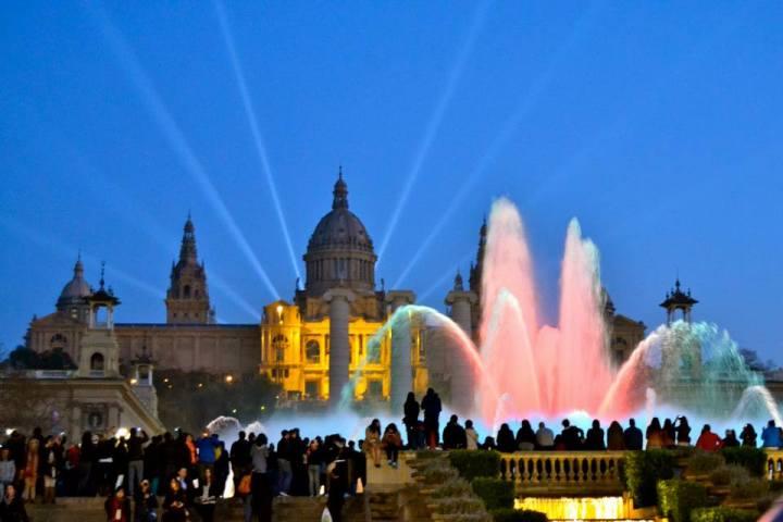 Magic Fountain in Montjuic.